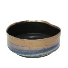 """Ceramic 10"""" Planter, Metallicblue"""