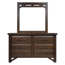 Timber Mirror and Dresser - Brown