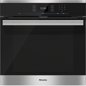 MieleH 6560 BP AM 24 Inch Convection Oven with AirClean catalyzer and Roast probe for precise cooking.