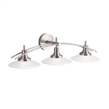 Structures Collection Structures 3 light Bath Light - Brushed Nickel