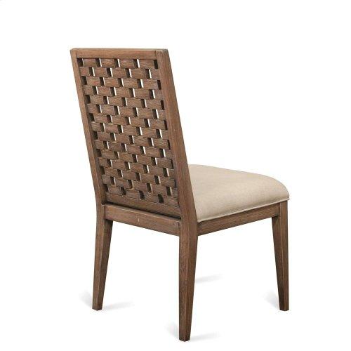 Mirabelle - Block Back Upholstered Side Chair - Ecru Finish