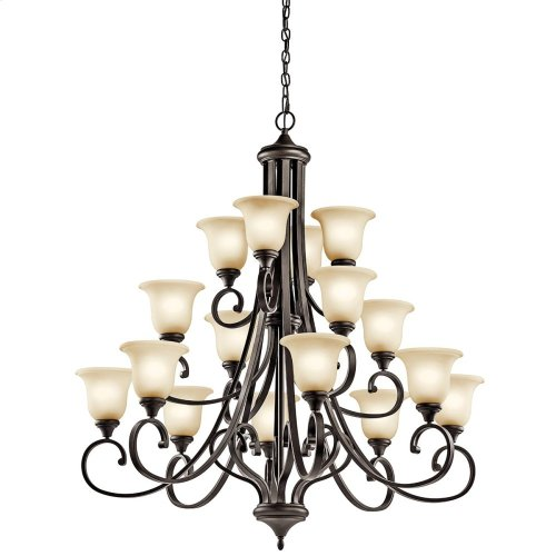 Monroe 16 Light Chandelier with LED Bulbs Olde Bronze®