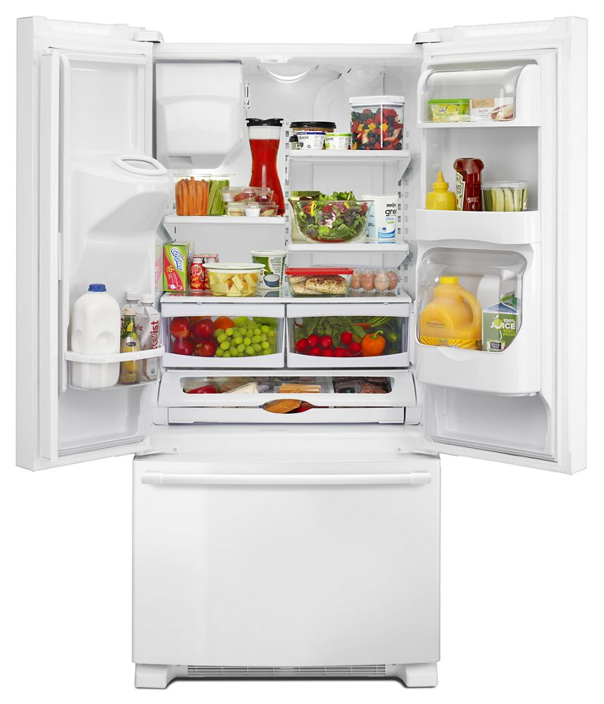 MAYTAG 33  Inch Wide French Door Refrigerator With Beverage Chiller  Compartment   22 Cu.