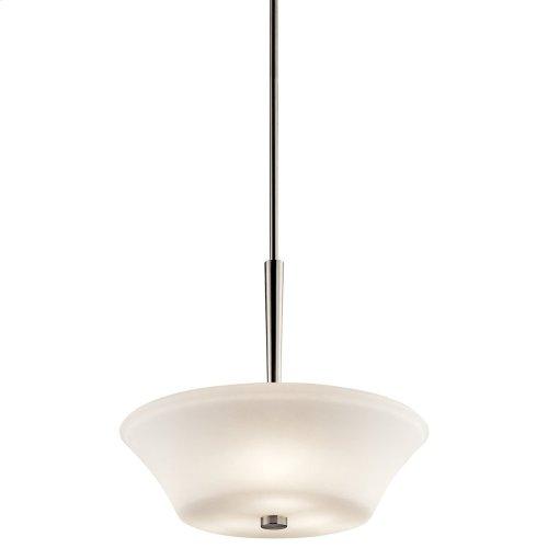 Aubrey 3 Light Pendant with LED Bulbs Brushed Nickel