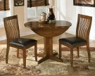 Round Drop Leaf Table w/ 2 Chairs Product Image