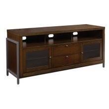 This impressive Cocoa finish Ash wood audio video TV stand offers versatili...