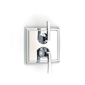 Polished Chrome Hudson (Series 14) Dual Control Thermostatic with Diverter and Volume Control Valve Trim