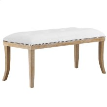 Expression Velvet Bench in Ivory
