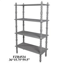 York Distressed Grey Antique Turned Leg Etagere