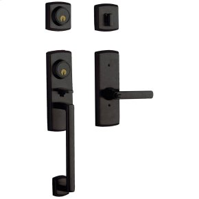 Distressed Oil-Rubbed Bronze Soho Two-Point Lock Handleset
