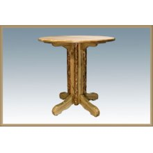Glacier Country Log Pedestal Table