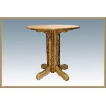 Glacier Country Log Pedestal Table