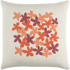 "Little Flower LE-001 18"" x 18"" Pillow Shell with Polyester Insert"
