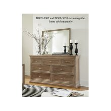 7-Drawer Dresser in Taupe Gray