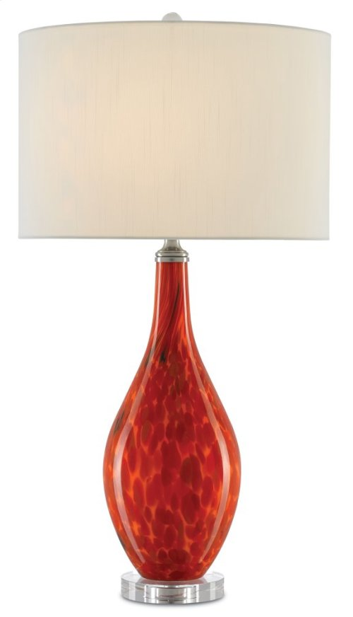 Lupo Red Table Lamp