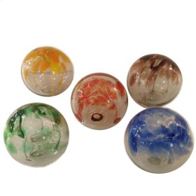 "Set Of 5 assorted 4"" Glass Balls"