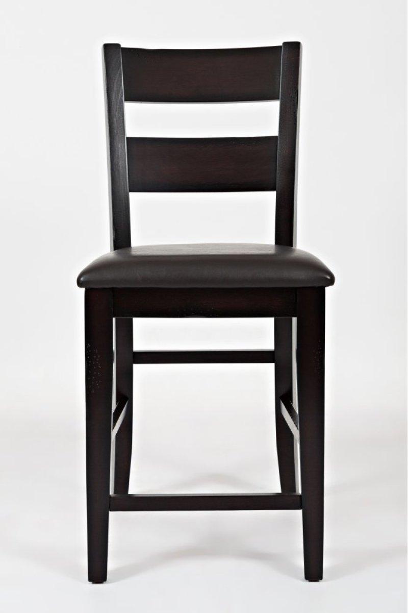 Dark rustic prairie counter height stool
