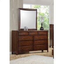 Hillary Warm Brown Nine-drawer Dresser