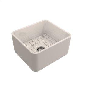 """Baird Single Bowl Fireclay Farmer Sink - 20"""" - Bisque"""