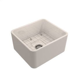 "Baird Single Bowl Fireclay Farmer Sink - 20"" - White"