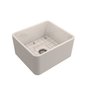 """Baird Single Bowl Fireclay Farmer Sink - 20"""" - Bisque Product Image"""