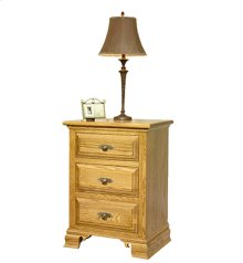 Traditional 3-Drawer Nightstand