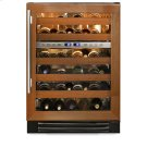24 Inch Overlay Glass Door Dual Zone Wine Cabinet - Left Hinge Overlay Glass Product Image