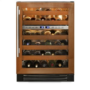 True Residential24 Inch Overlay Glass Door Dual Zone Wine Cabinet - Right Hinge Overlay Glass