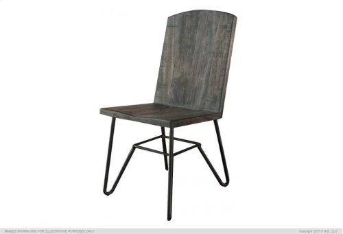 Solid Parota Chair w/ Iron base, Moro finish