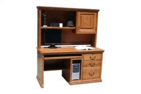 """A-T699 Traditional Alder 57"""" 3-Drawer Computer Desk w/CPU Storage"""