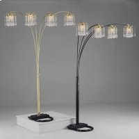 "Rain Drop Arc Lamp 84""h Pewter Product Image"