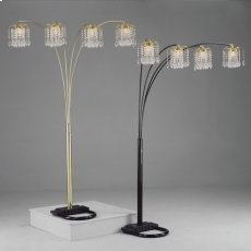 "Rain Drop Arc Lamp 84""h Gold Product Image"