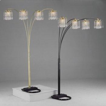 "Rain Drop Arc Lamp 84""h Black Product Image"