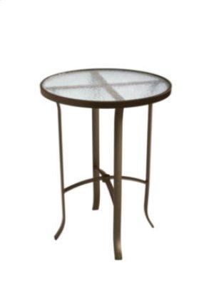 """Acrylic 30"""" Round Bar Table"""