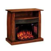 "Mid Century 38"" Fireplace Media Cabinet"
