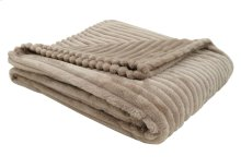 "THROW - 60"" X 50"" / BEIGE ULTRA SOFT RIBBED STYLE"
