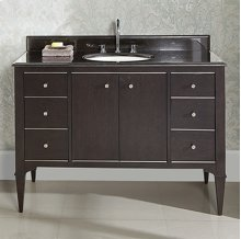 "Charlottesville w/Nickel 48"" Vanity - Door - Vintage Black"
