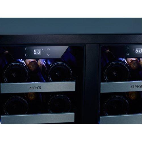 """24"""" Dual Zone French Door Wine Cooler"""