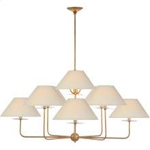 Visual Comfort NW5070GI-L Niermann Weeks Kelley 9 Light 44 inch Gilded Iron Chandelier Ceiling Light, Large