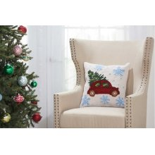 "Home for the Holiday Yx108 Multicolor 18"" X 18"" Throw Pillows"