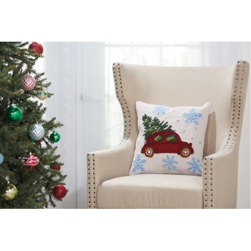 """Home for the Holiday Yx108 Multicolor 18"""" X 18"""" Throw Pillows"""