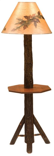 Floor Lamp Without Lamp Shade, Rustic Maple