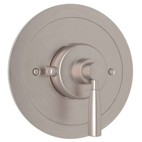 Satin Nickel Perrin & Rowe Holborn Thermostatic Trim Without Volume Control with Holborn Metal Lever