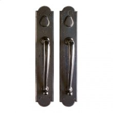 "Arched Push/Pull Set - 3 1/2"" x 20"" Silicon Bronze Rust"