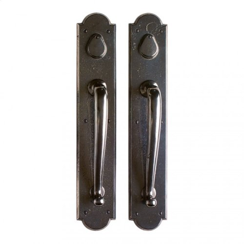 """Arched Push/Pull Set - 3 1/2"""" x 20"""" Silicon Bronze Brushed"""