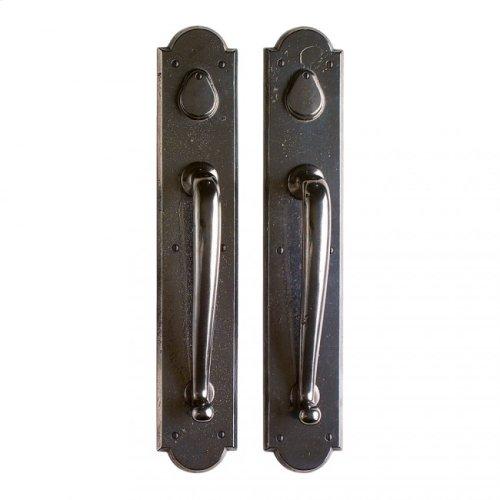 "Arched Push/Pull Set - 3 1/2"" x 20"" White Bronze Dark"