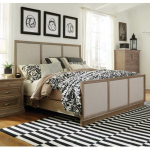 JOHN THOMAS FURNITURESonoma King Bed Taupe Gray