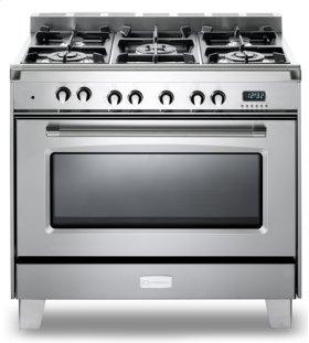 "Stainless Steel Verona Classic 36"" Dual Fuel Single Oven Range"