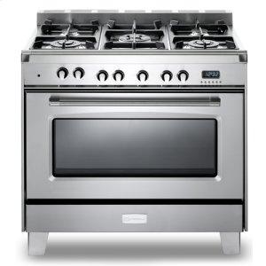 "VeronaStainless Steel Verona Classic 36"" Dual Fuel Single Oven Range"
