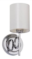 Ventura Sconce - Chrome Shade Color: White Product Image